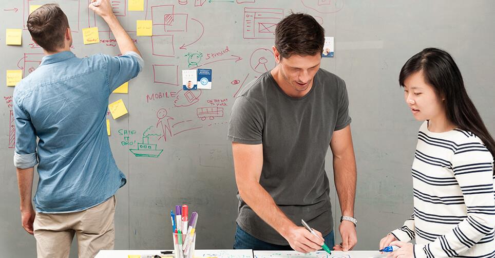 Atlassian design team at work