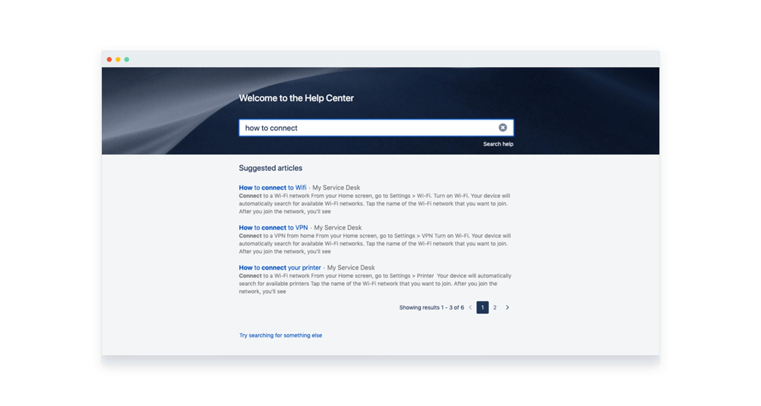 Jira Service Desk portal search experience