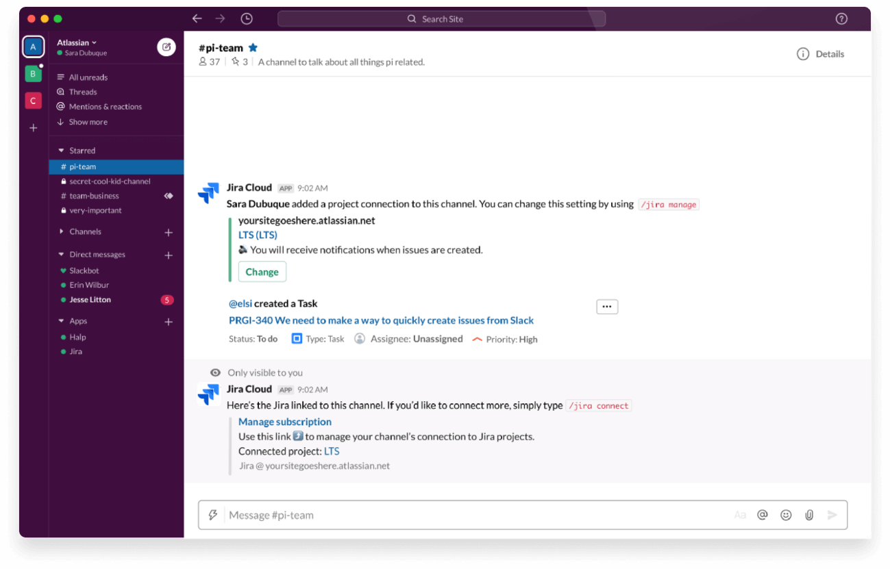 Slack en Atlassian