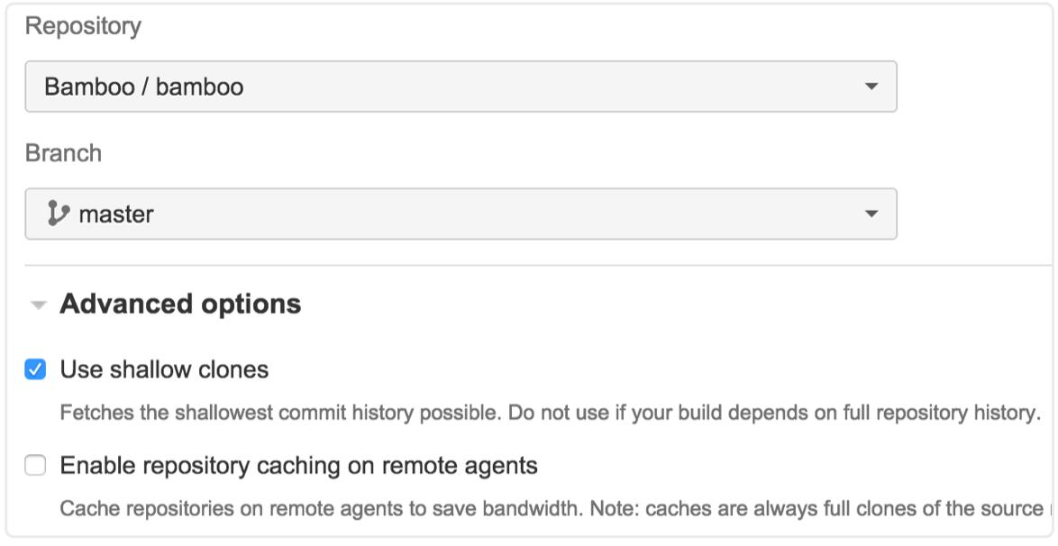 Git リポジトリのスクリーンショット