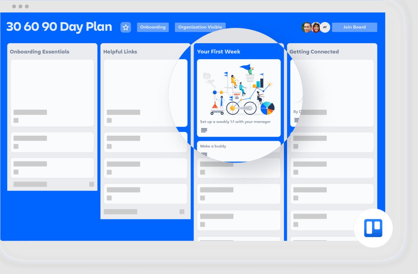 Trello 90 day plan board