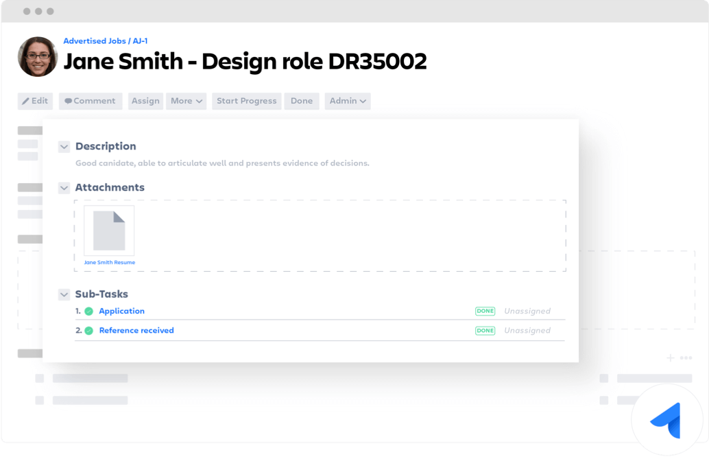 Design role Jira Core ticket