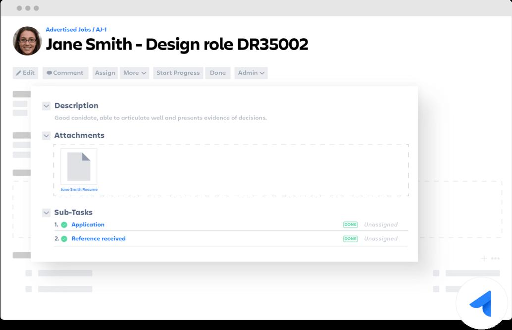 Design role Jira Core ticket