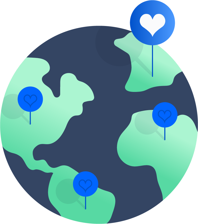 kaart van de wereld