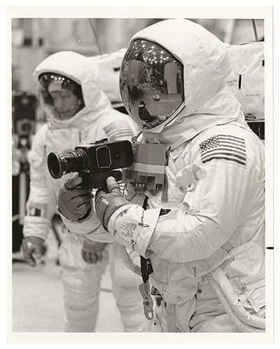 Astronaut with camera