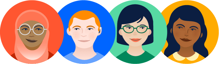 Avatars of a diverse team