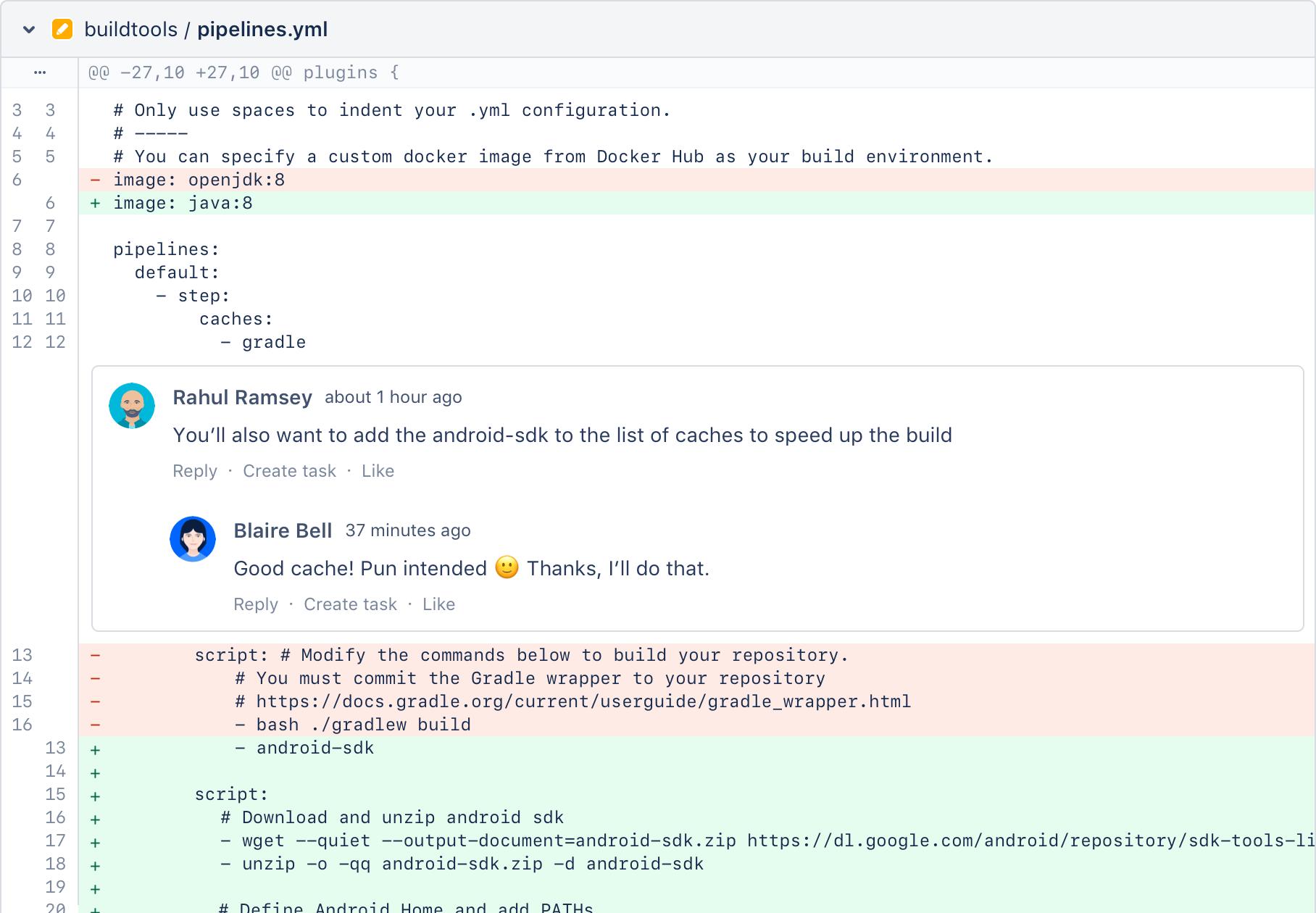 Диалог в Bitbucket