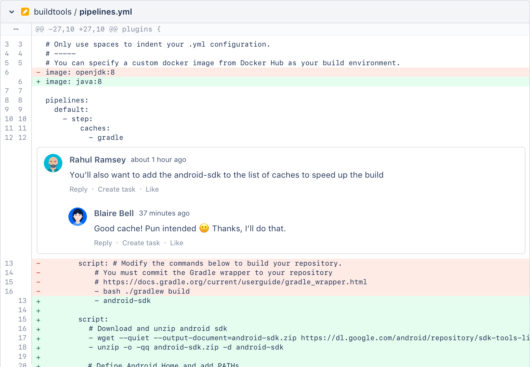Bitbucket conversation