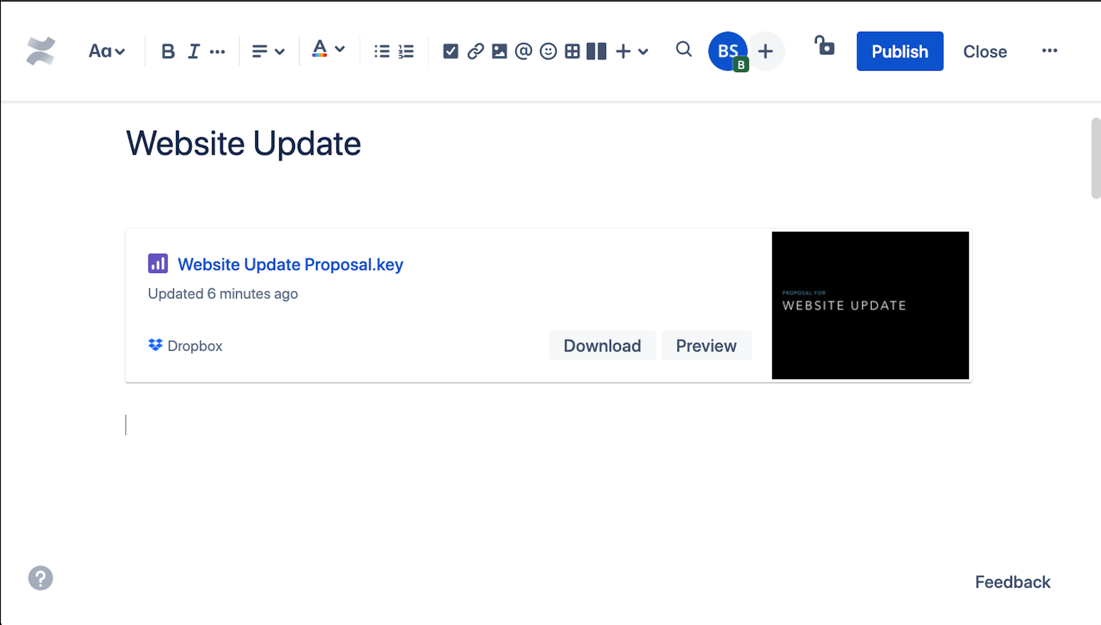 网站更新屏幕截图