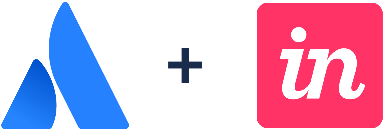 Logotipo de Atlassian + Logotipo de InVision