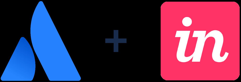 アトラシアンのロゴと InVision のロゴ