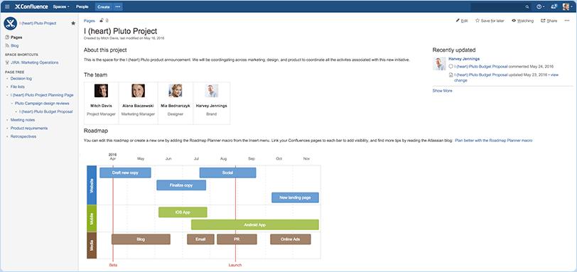 project-documentation-confluence-screenshot-roadmap