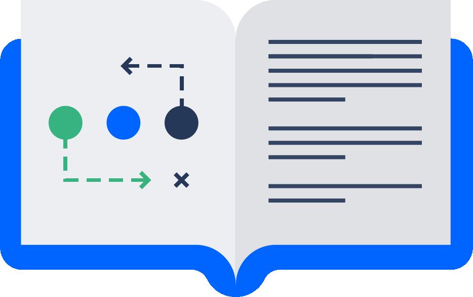 Illustration of open book