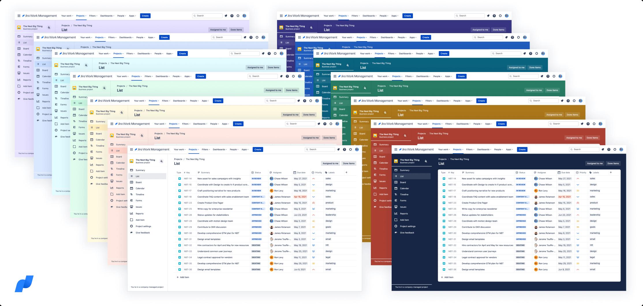 Captura de pantalla de colores de fondo