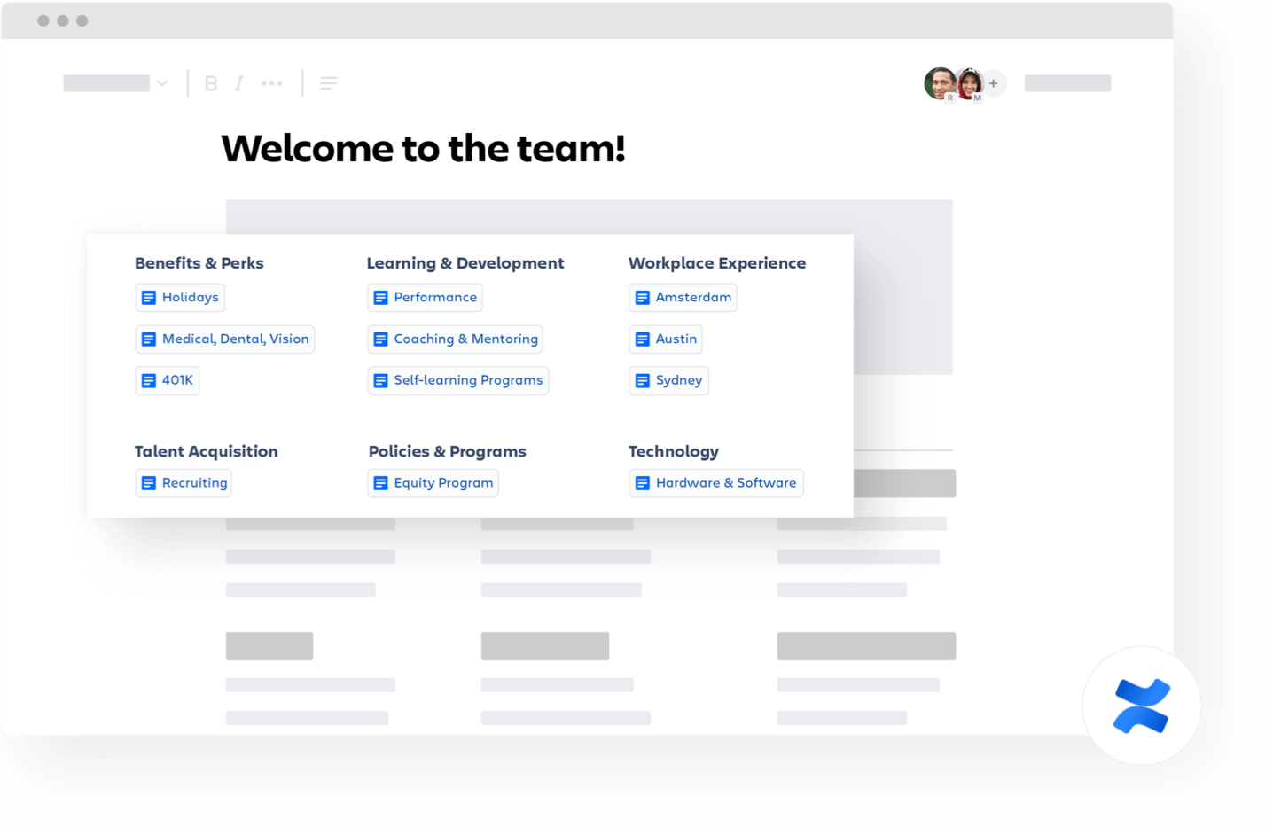 팀 Confluence 페이지에 오신 것을 환영합니다