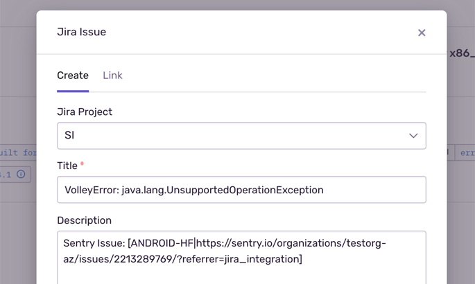 Two way sync between Jira Software and Sentry