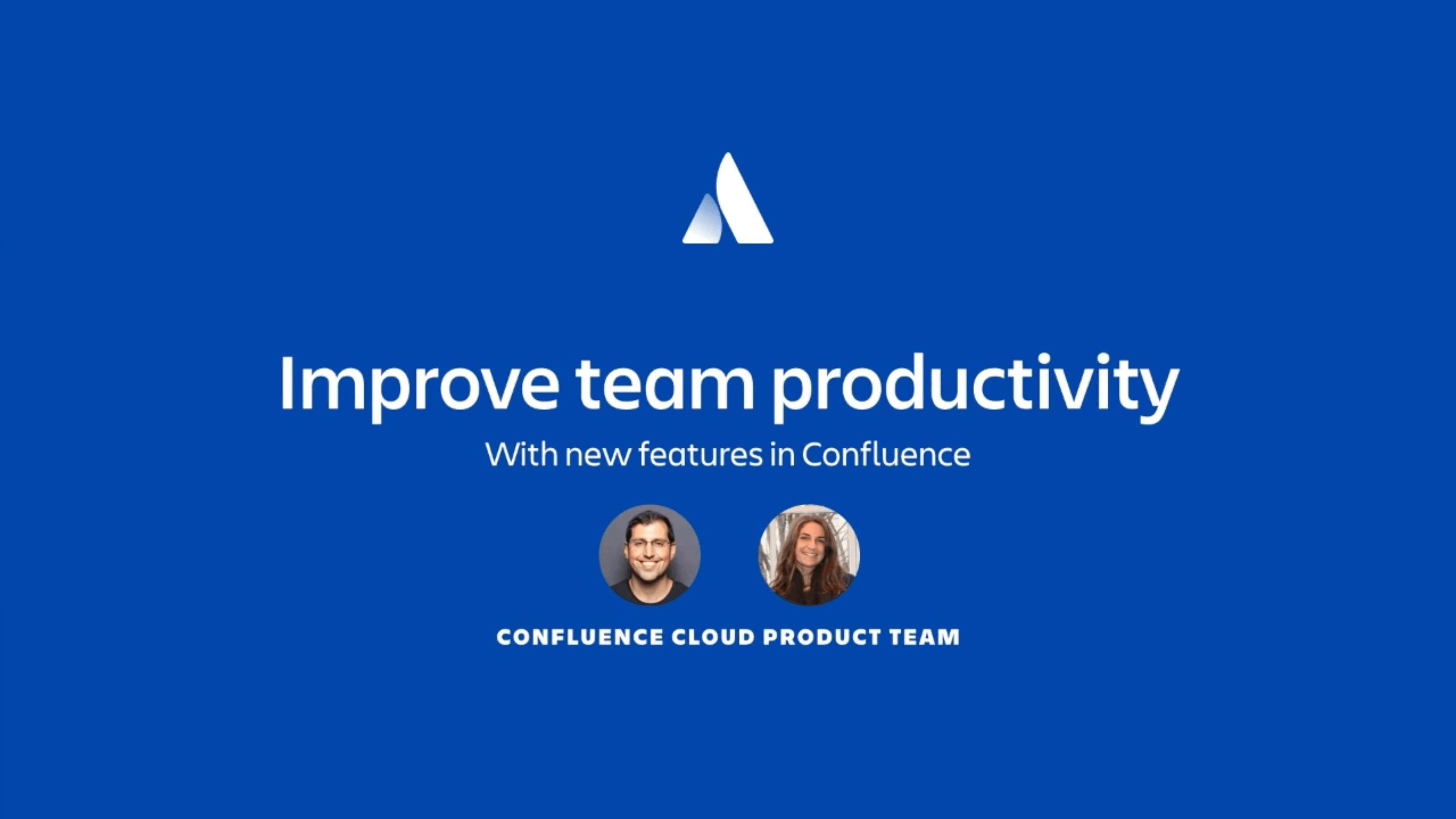 Improve team productivity webinar thumbnail