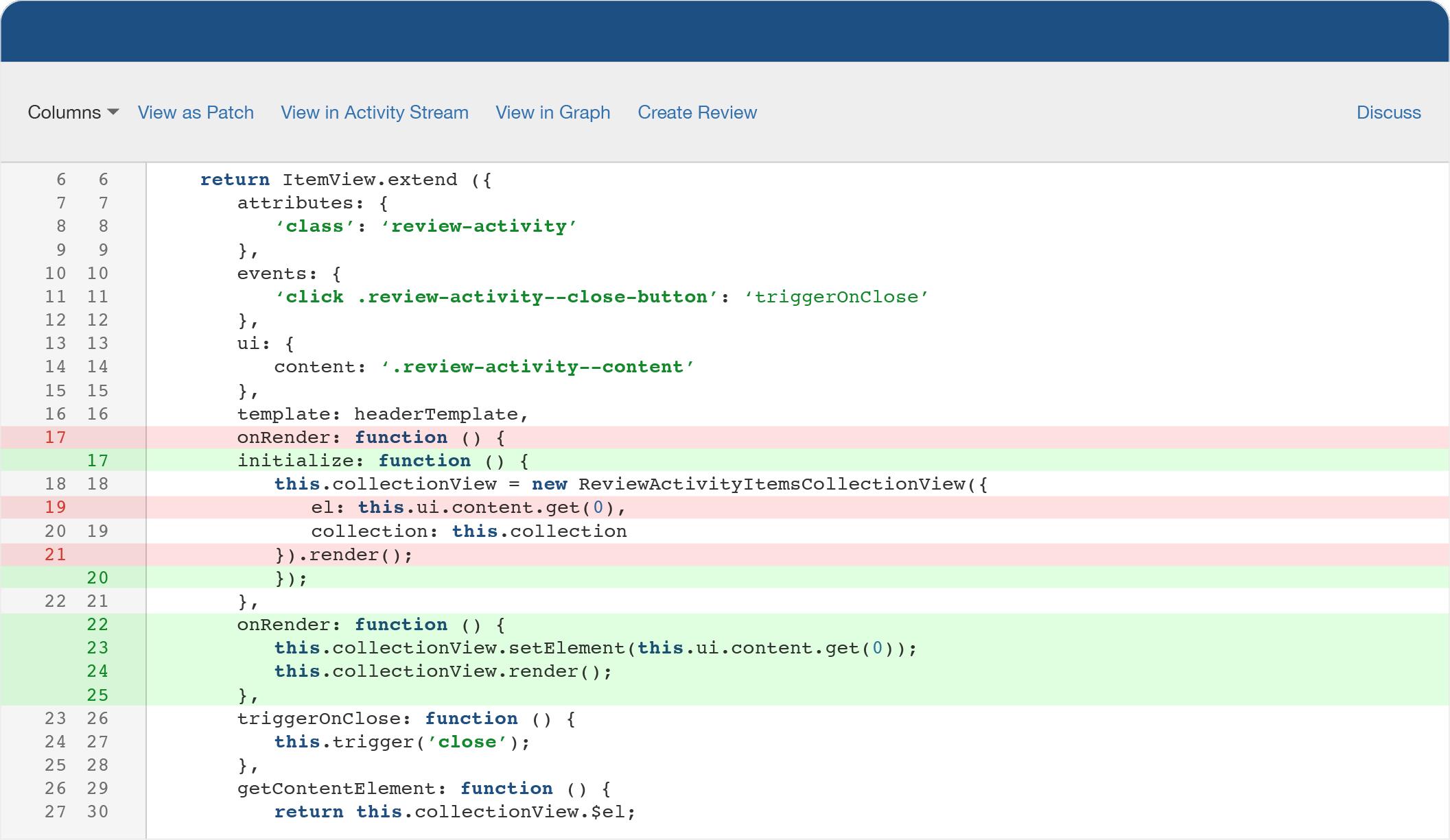 Fisheye — różnice w kodzie