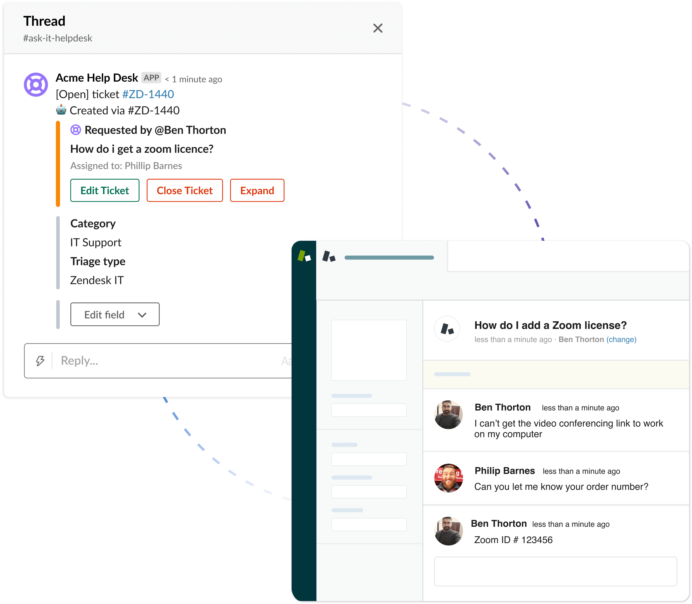 Two-way sync with threads