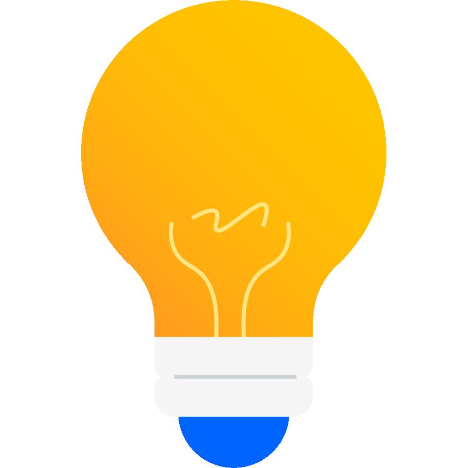 Illustrazione di una lampadina