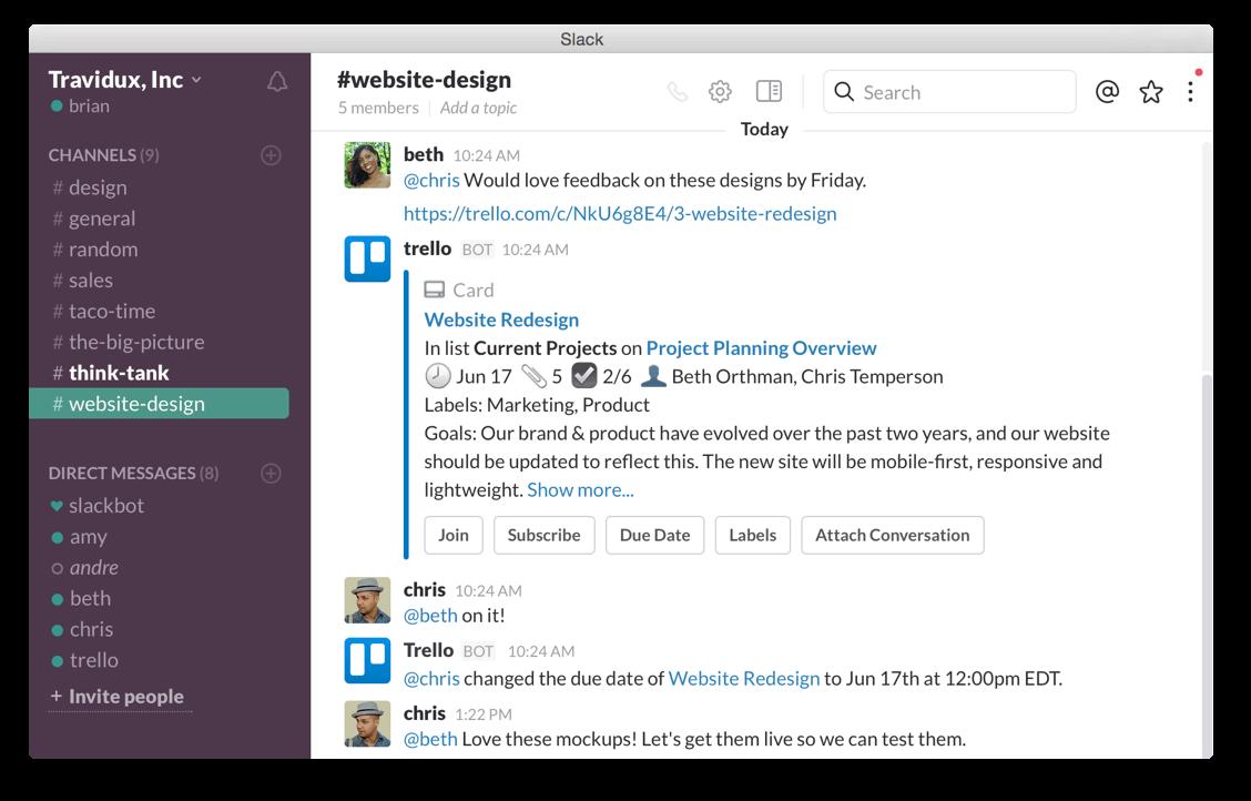 Kontroluj sytuację z platformy Slack