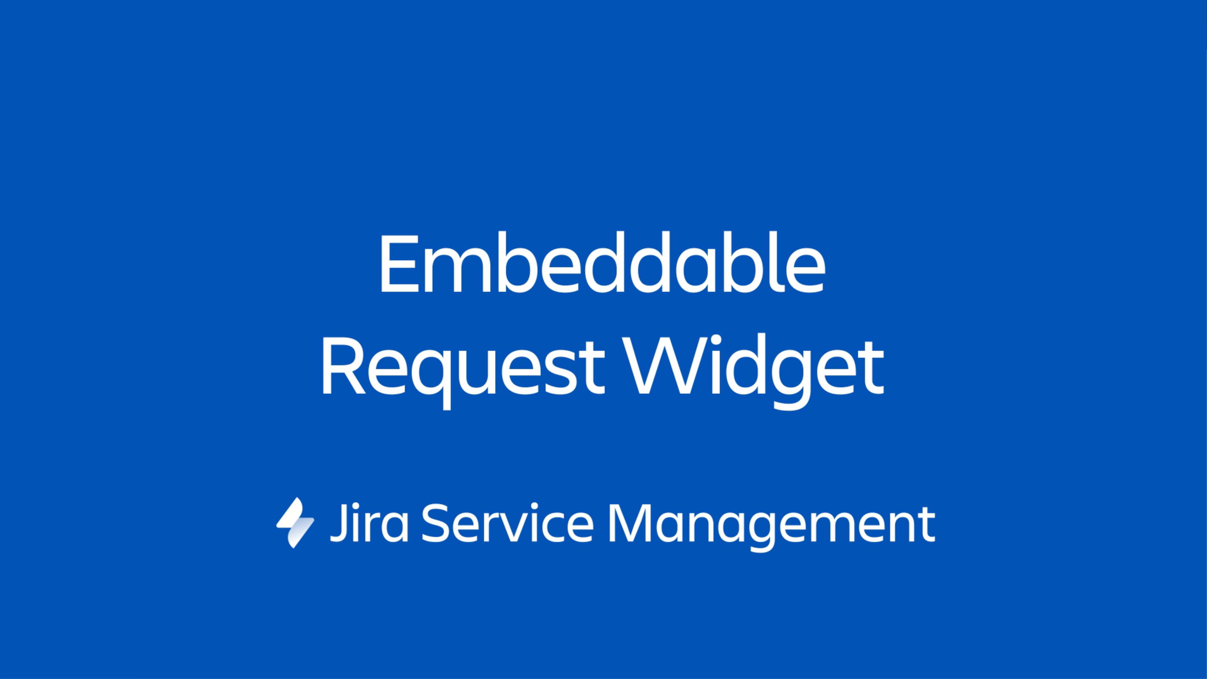 Widget Jira Service Management to miniportal, który można osadzić na dowolnej kontrolowanej stronie internetowej.