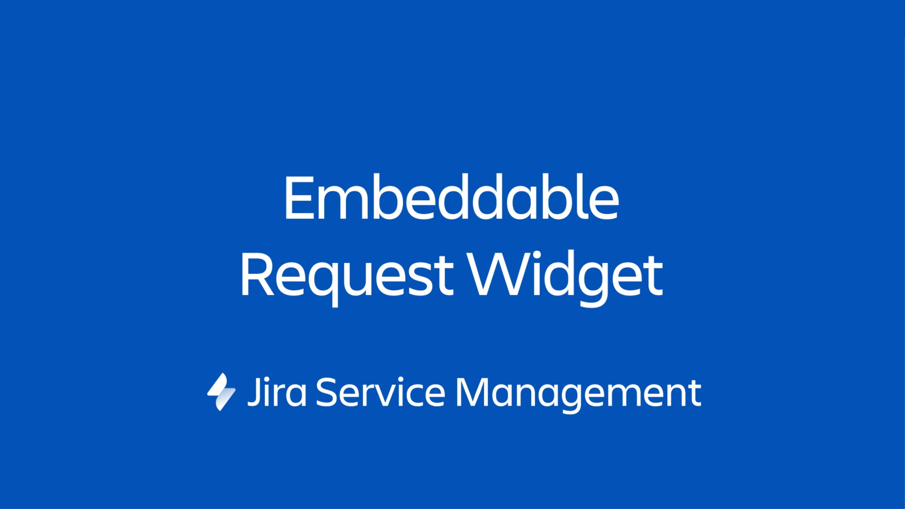 Jira Service Management ウィジェットは、ユーザーが管理する Web ページ上に埋め込むことができるミニポータルです。