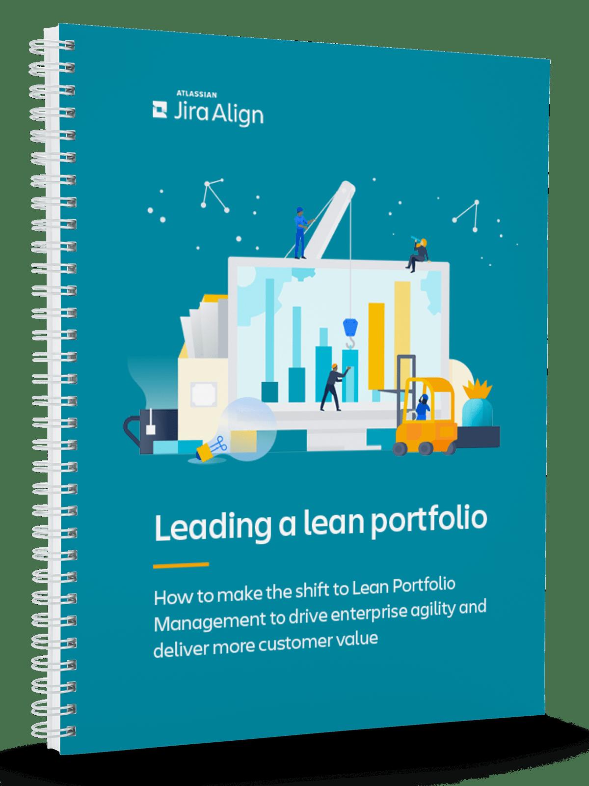 Leading a lean portfolio ebook Cover