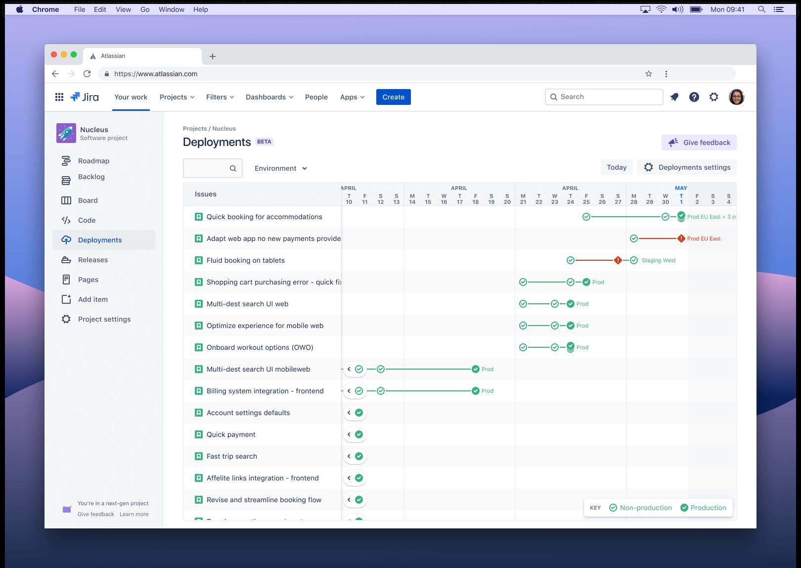 Újgenerációs kiadások képernyőképe