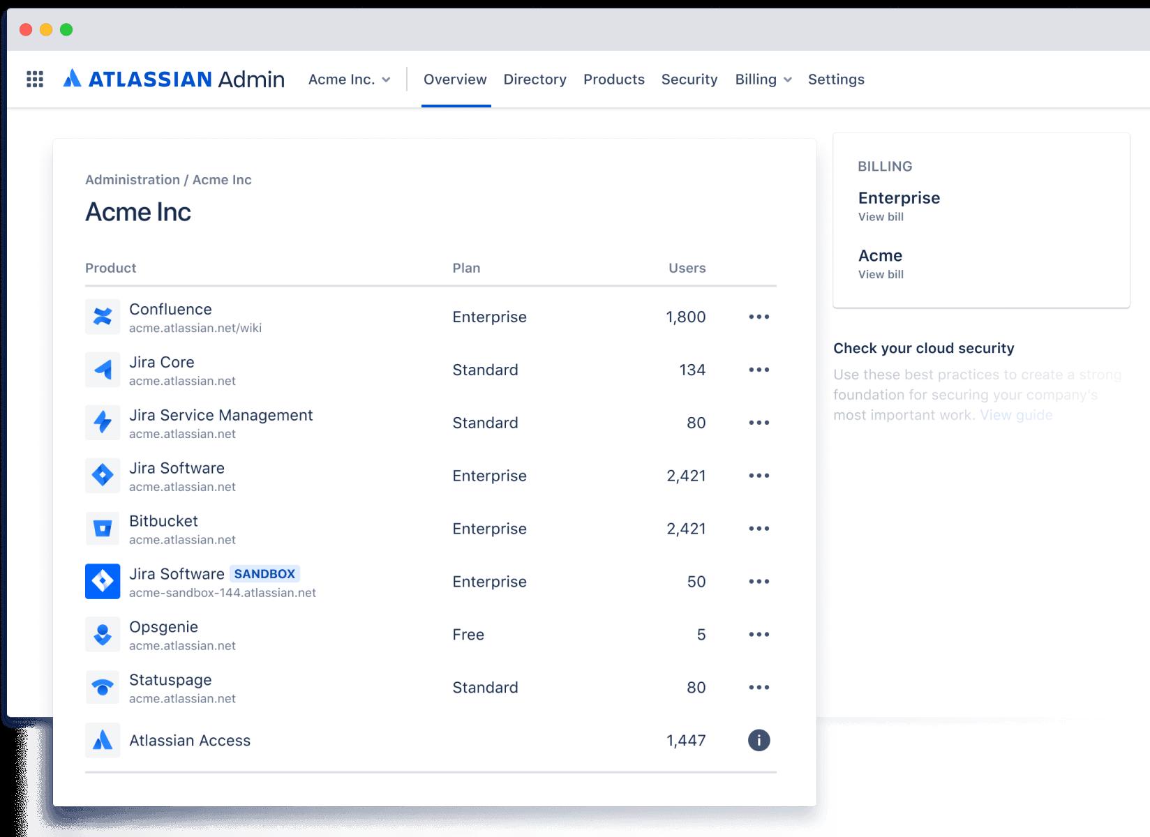 Zrzut ekranu z przeglądem administratora
