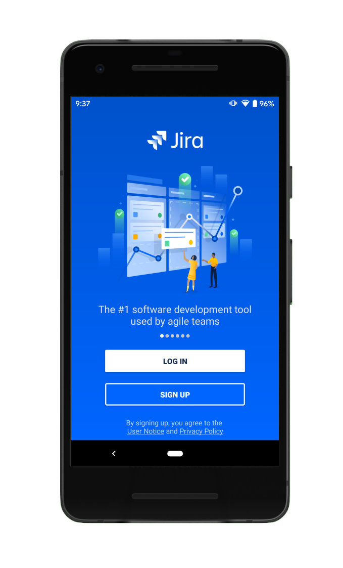 Jira Cloud mobile app login