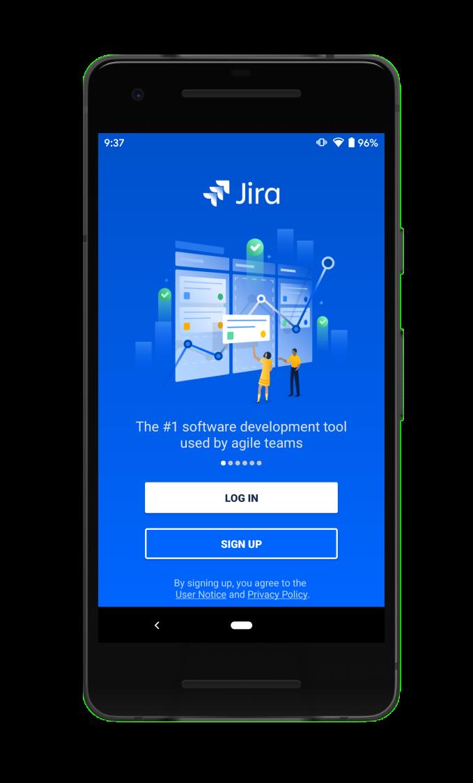 Inicio de sesión en la aplicación móvil de Jira Cloud