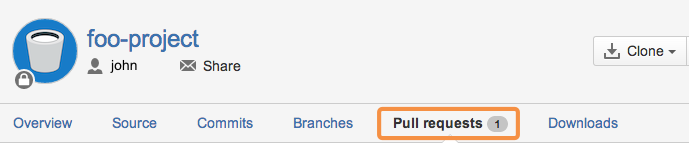 Pull Request: Bitbucket pull requests