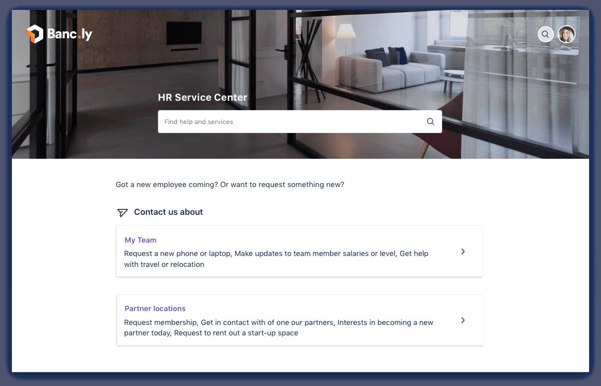 HR service desk request form