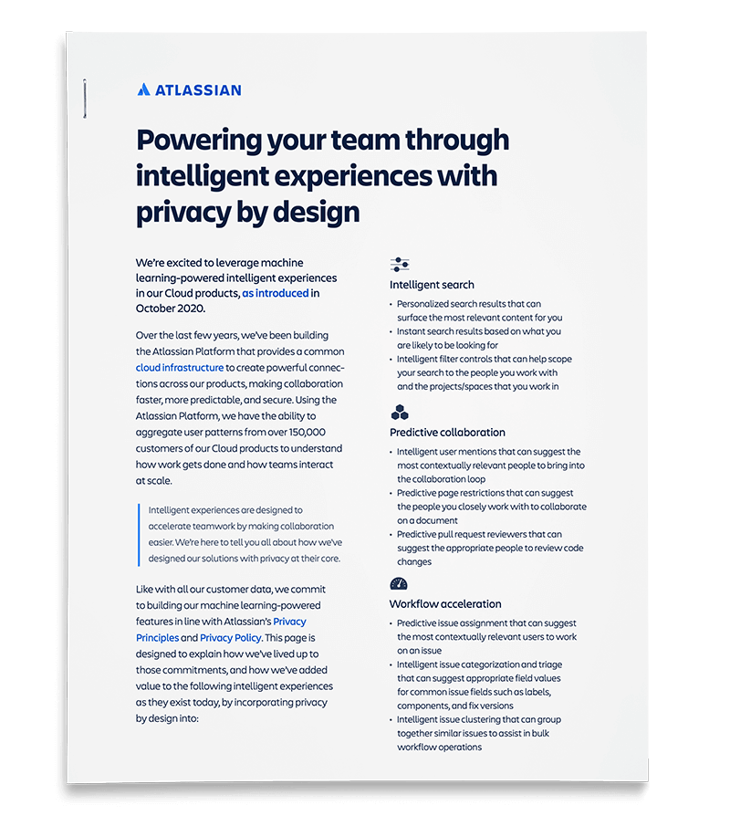 Powering your team through intelligent experiences with privacy by design PDF cover