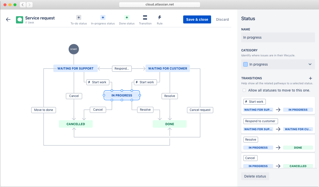 Configurable workflows screenshot