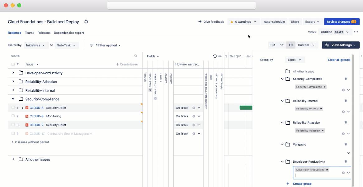 Screenshot of Leveraging Categorization