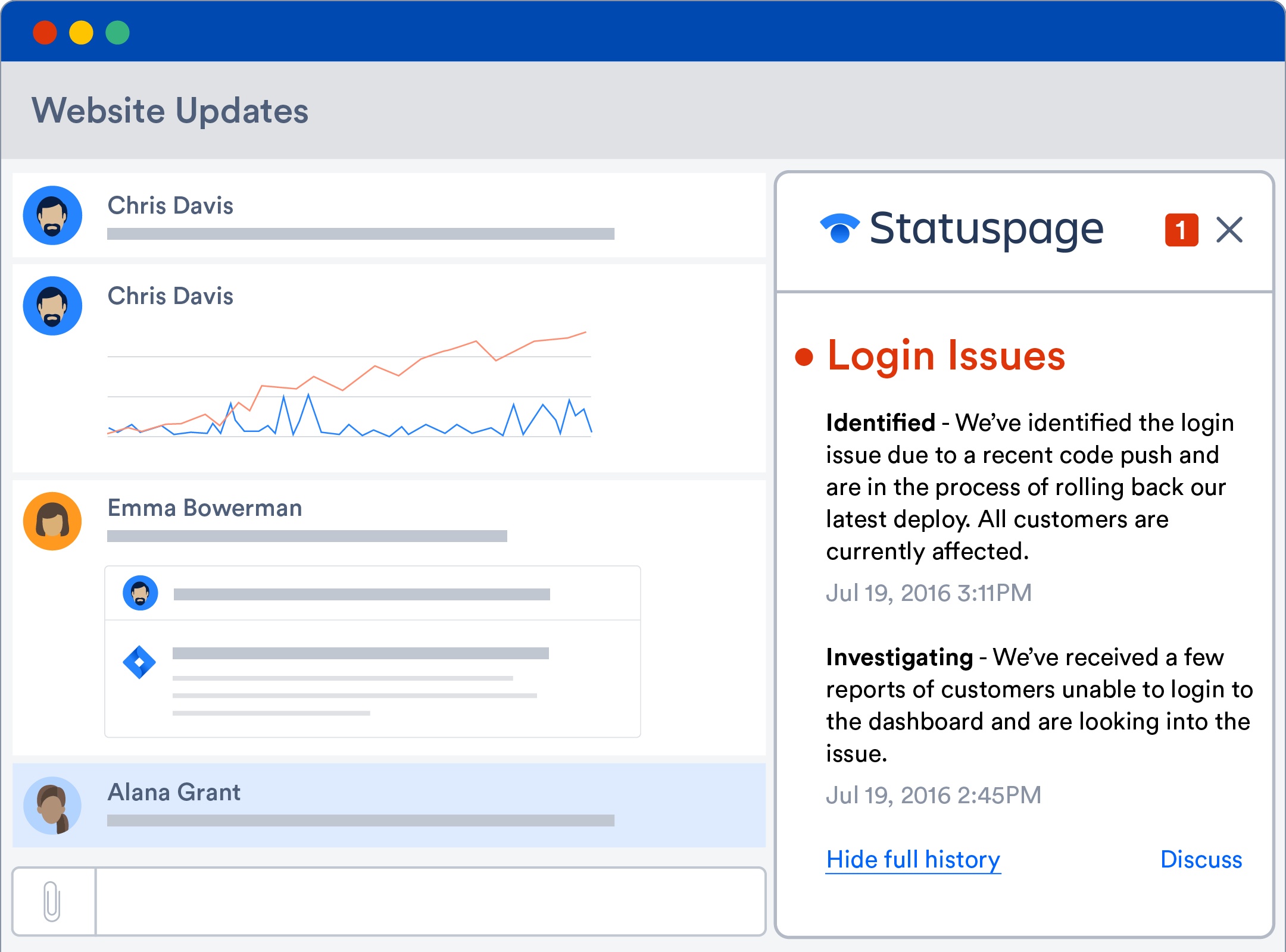 Status page intergrating into Hipchat