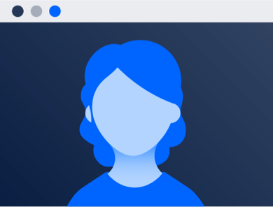 Portrait d'une personne assistant au webinaire