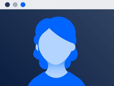 Фотография головы в окне вебинара