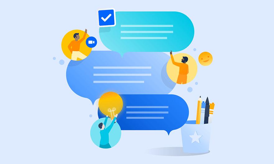 Chat zur Teambildung