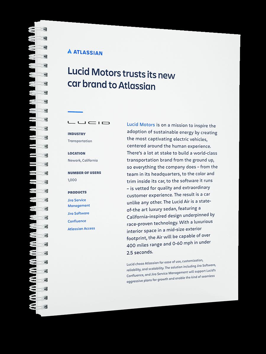 Capa do PDF da Lucid Motors