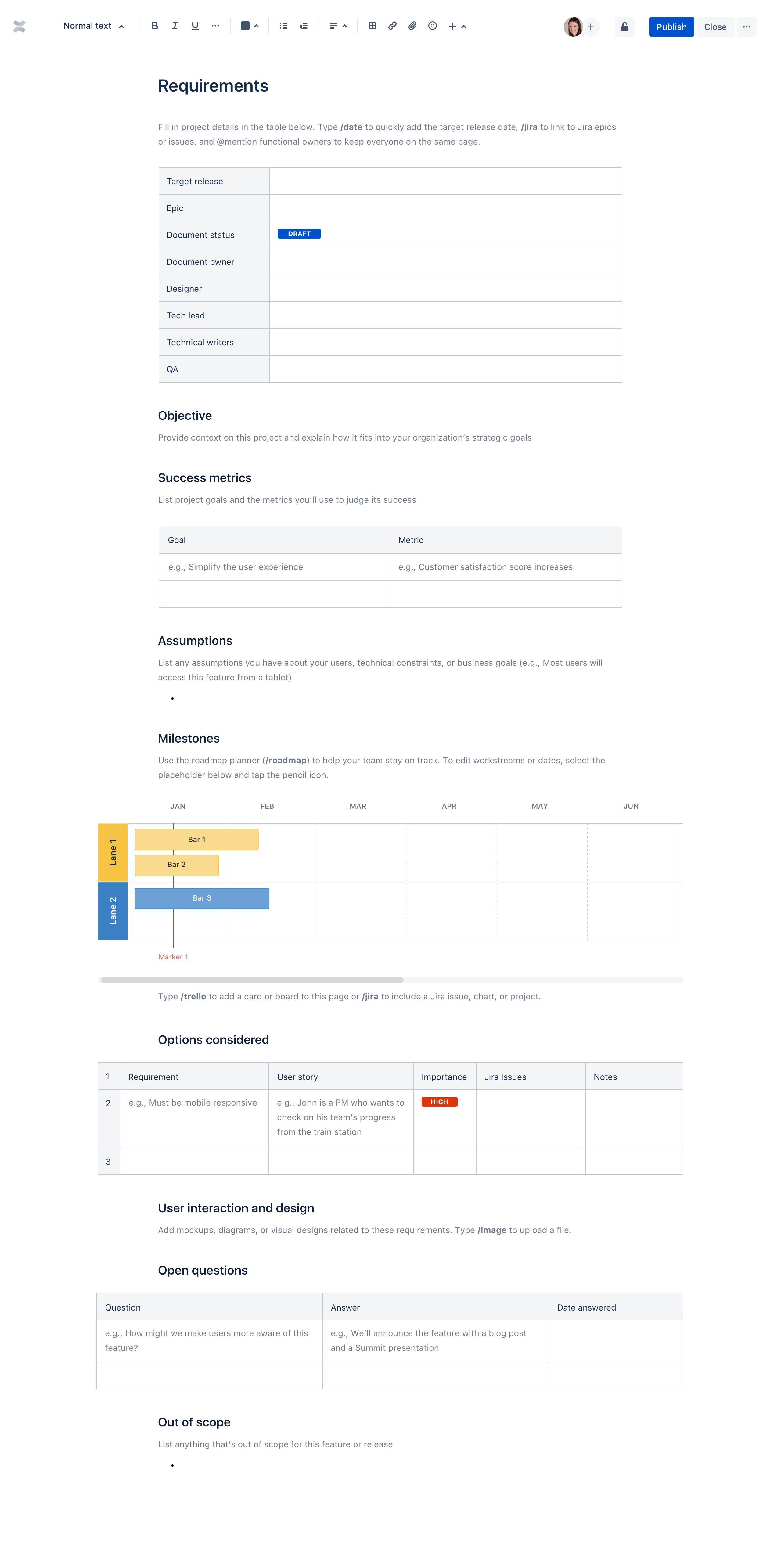 产品要求文档模板