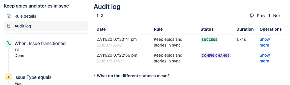 Audit Log to test Jira Rule Automation