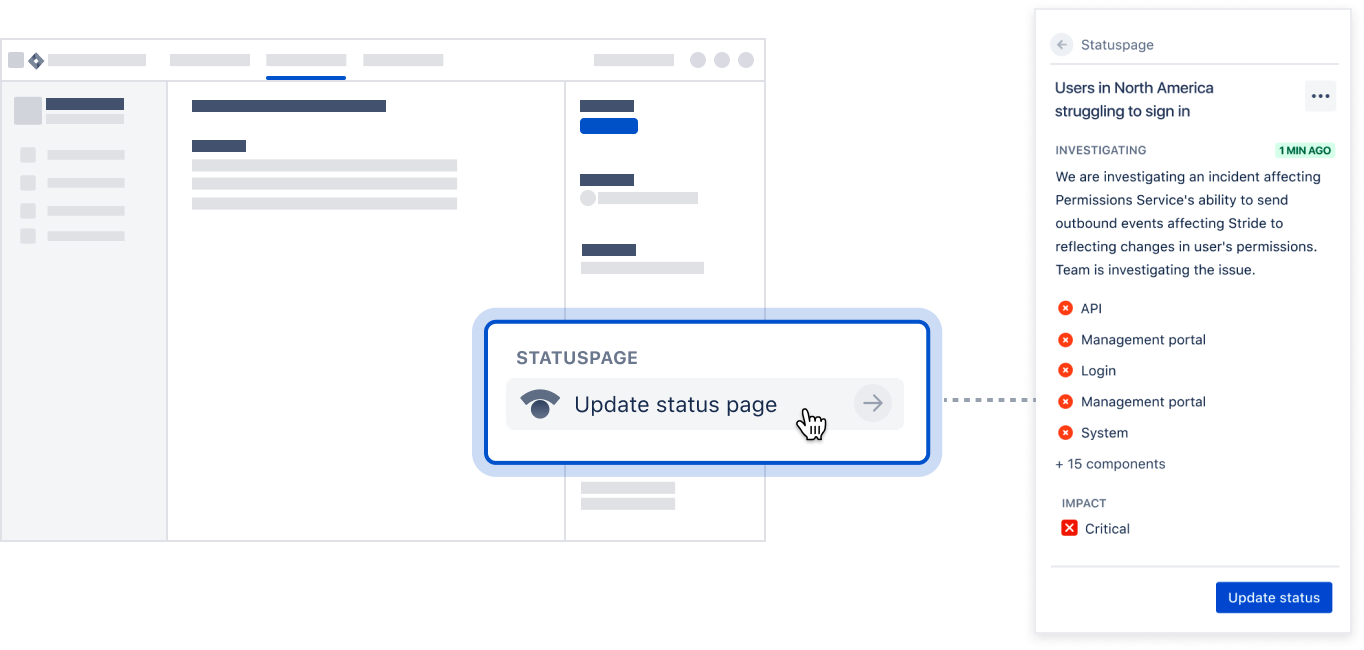 Update status page