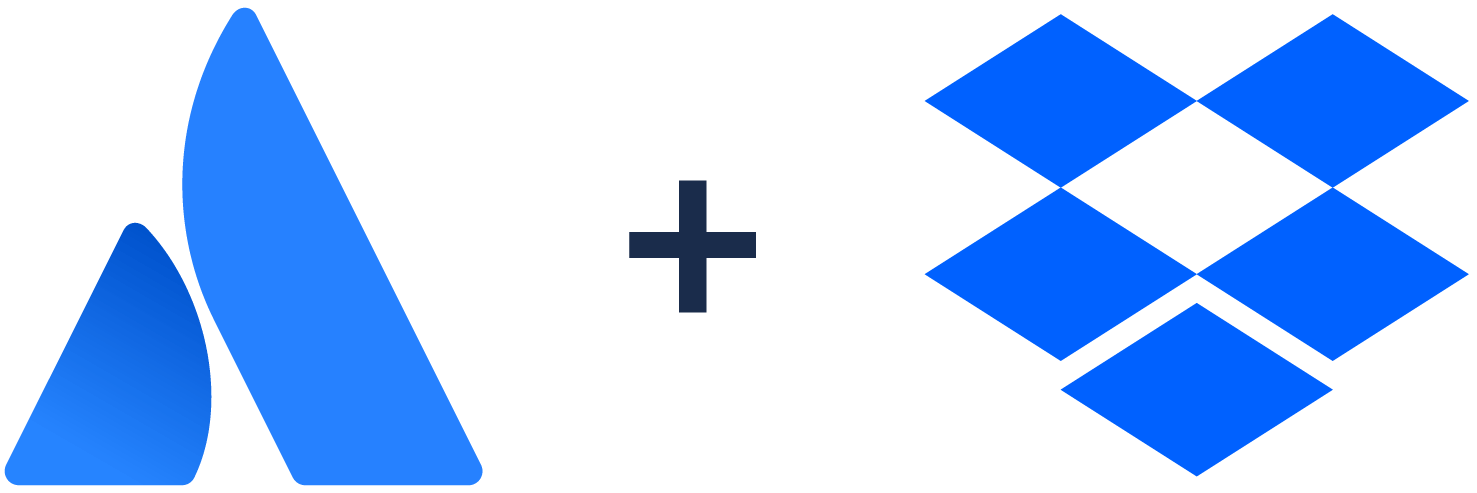 Atlassian logo + Dropbox logo