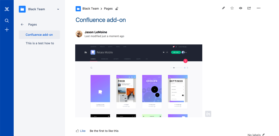 Confluence add-on