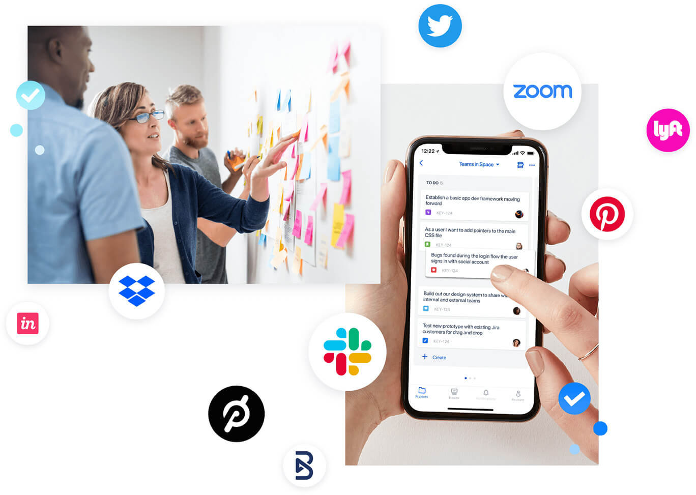 Ilustração de startups