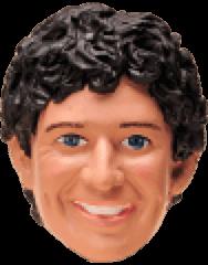 Muñeco cabezón de Scott Farquhar