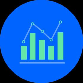 A bar graph chart